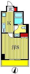レーヴ東京イースト フェルクルール[3階]の間取り