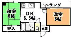 大阪府大阪市西成区千本中2丁目の賃貸マンションの間取り