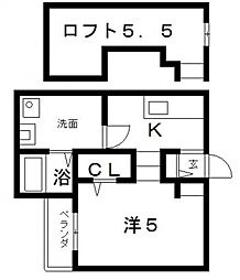 オネスト[2階]の間取り