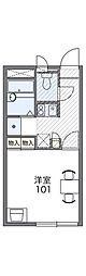 JR津山線 備前原駅 徒歩13分の賃貸アパート 2階1Kの間取り