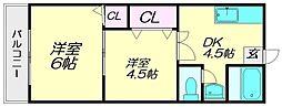 浜武シティビル[205号室]の間取り