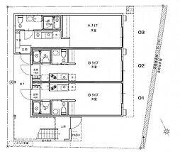 広島電鉄宮島線 草津駅 徒歩5分の賃貸アパート 1階ワンルームの間取り