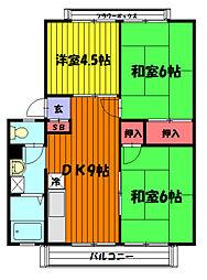 フローラルASAI C棟[203号室]の間取り