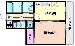 兵庫県神戸市東灘区御影中町8丁目の賃貸マンションの間取り