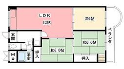 東朋第一マンション[310号室]の間取り