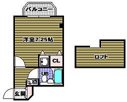 シャルマンフジ北野田[303号室]の間取り