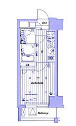 JR京浜東北・根岸線 川崎駅 徒歩10分の賃貸マンション 10階1Kの間取り