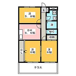 サザンウインドパートIII[1階]の間取り
