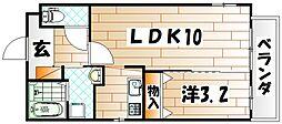 福岡県北九州市八幡東区枝光1丁目の賃貸マンションの間取り