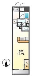 ロイジェント栄[7階]の間取り