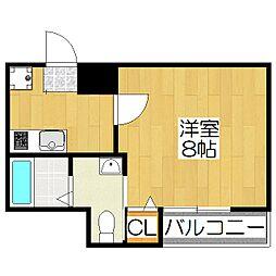ア−クリ−ド京都黒門[3階]の間取り