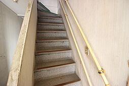 手すりのついた階段です