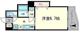 ラグゼ住之江[8階]の間取り