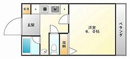 エレフコート山手[2階]の間取り