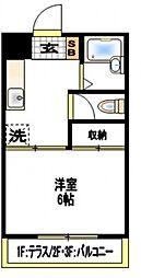エリール岩崎[1階]の間取り