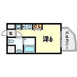インターフェルティR2甲子園[9階]の間取り