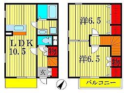 [テラスハウス] 千葉県柏市豊住1丁目 の賃貸【/】の間取り