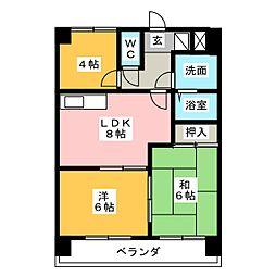 橘AKビル[7階]の間取り