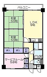 ライオンズマンション北堀[3階]の間取り