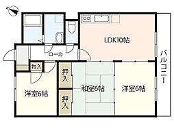 フォレスト相田[2階]の間取り