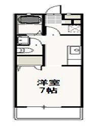 JR山陽本線 西川原駅 徒歩5分の賃貸アパート 1階1Kの間取り