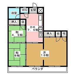 伊藤コーポ[4階]の間取り
