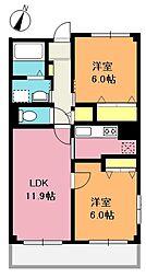 ゴールドレジデンス2[5階]の間取り