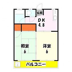 国井コーポ[2階]の間取り
