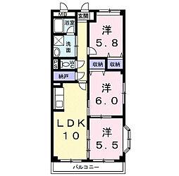 マーベラスコンドミニアム[2階]の間取り