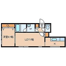La Meridian[2階]の間取り