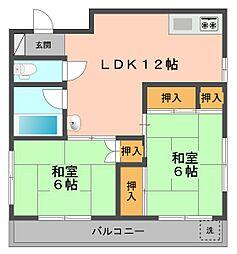 東京都江戸川区北篠崎1丁目の賃貸マンションの間取り