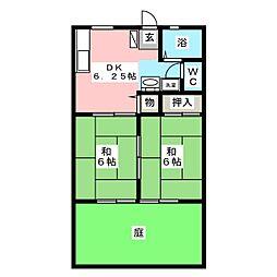もちの木ハイツPART6[1階]の間取り