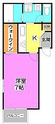 プルミエ‐ルT[2階]の間取り