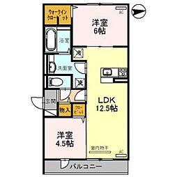 レオンガーデン 〜leon Garden〜[2O3号室号室]の間取り