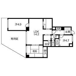シャトレ御棚(オタナ)[1階]の間取り