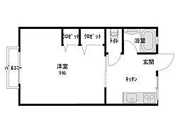シティハイム青山B棟[105号室]の間取り