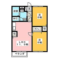 メゾン高向[2階]の間取り