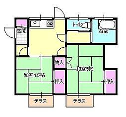 [一戸建] 東京都八王子市大楽寺町 の賃貸【/】の間取り