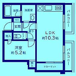 シルクハイツ[1階]の間取り