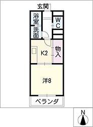 徳川パークサイドマンションA棟[1階]の間取り