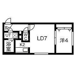 北海道札幌市豊平区豊平五条6の賃貸マンションの間取り