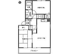 フォブール東山崎 B棟[1階]の間取り