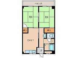 中前マンション[3階]の間取り