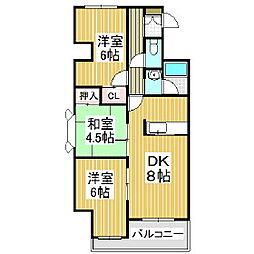 ジェイステージ苫小牧II[3階]の間取り