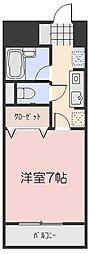 マローン新福[1階]の間取り