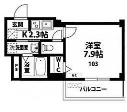 メルベージュ[3階]の間取り