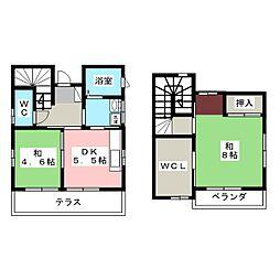 [一戸建] 静岡県浜松市中区板屋町 の賃貸【/】の間取り