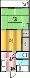 東京都足立区栗原4丁目の賃貸アパートの間取り