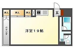 チャパルサイドアパートメント[3階]の間取り