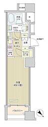 都営大江戸線 築地市場駅 徒歩4分の賃貸マンション 5階1Kの間取り